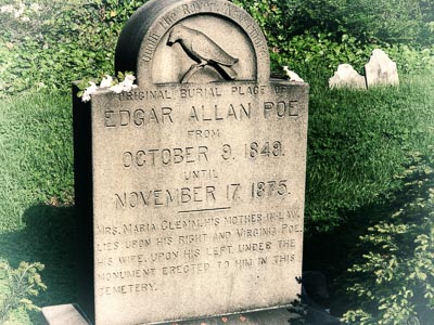 Edgar Allen Poe Grave in Baltimore