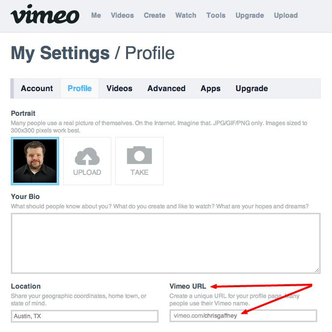 How to get a Vimeo vanity URL