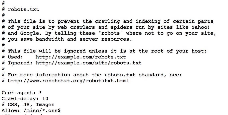 How to Fix the Problems with Drupal's Default Robots txt