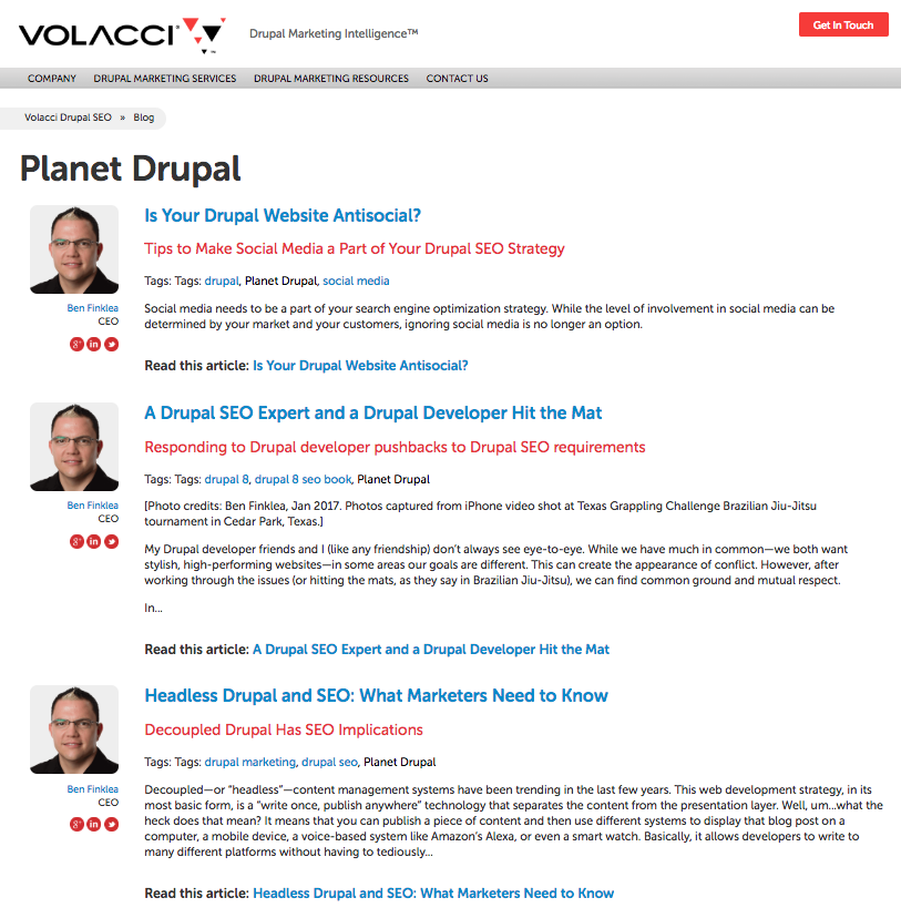 taxonomy topic cluster for planet drupal on volacci.com