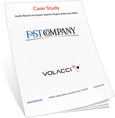 Volacci SEO audit case study for FastCompany
